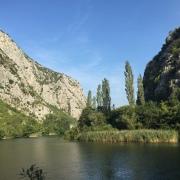 Cetina-Schlucht am Morgen, später sollte man hier nicht mehr laufen