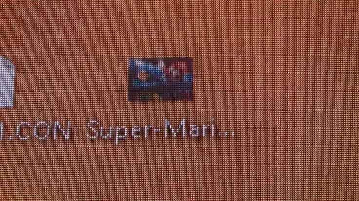 Bildschrim super mario
