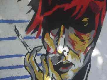 Mostar Street Art Uni Bowie androgyn