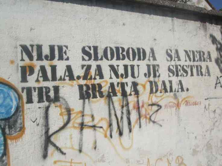 Mostar Street Art Uni nije sloboda