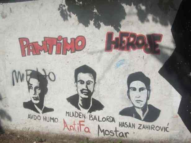 Mostar Street Art Uni Pamtimo