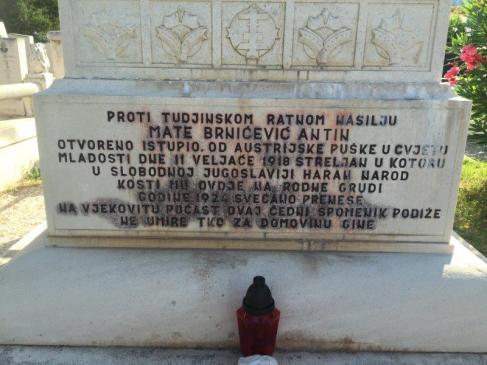 Hinrichtung Inschrift